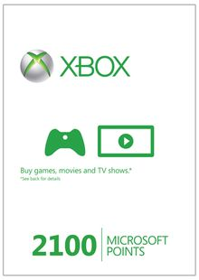 Xbox Live 2100 Microsoft Points (Xbox 360) cheap key to download