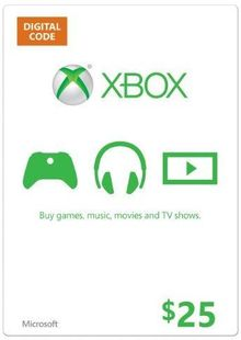 Microsoft Gift Card - $25 (Xbox One/360) billig Schlüssel zum Download