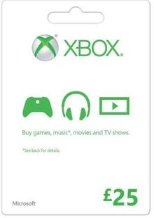 Microsoft Gift Card - £25 (Xbox One/360) cheap key to download