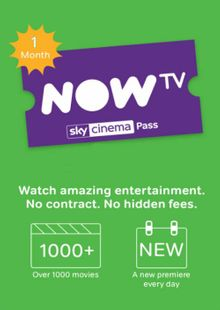 NOW TV - 1 Month Movie Pass cheap key to download
