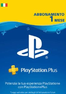 Playstation Plus - 1 Month Subscription (Italy) cheap key to download