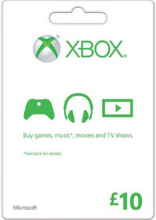 Microsoft Gift Card - £10 (Xbox One/360) cheap key to download