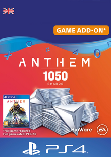 Anthem 1050 Shards PS4 (UK) billig Schlüssel zum Download