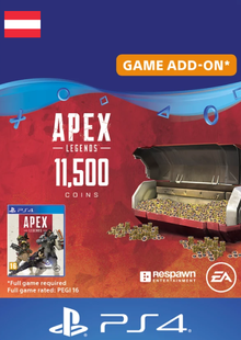 Apex Legends 11500 Coins PS4 (Austria) cheap key to download
