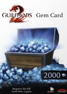 Guild Wars 2 2000 Gem Points Card (PC) clé pas cher à télécharger
