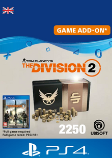 Tom Clancy's The Division 2 PS4 - 2250 Premium Credits Pack cheap key to download