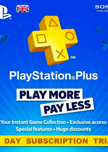 PlayStation Plus (PS+) - 30 Day Trial Subscription (UK) cheap key to download