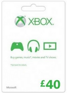 Microsoft Gift Card - £40 (Xbox One/360) billig Schlüssel zum Download