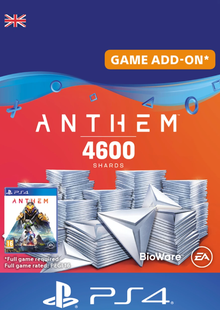 Anthem 4600 Shards PS4 (UK) billig Schlüssel zum Download
