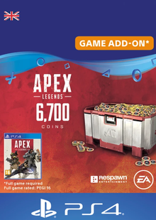 Apex Legends 6700 Coins PS4 (UK) cheap key to download