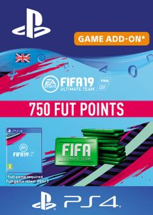 750 FIFA 19 Points PS4 PSN Code - UK account billig Schlüssel zum Download