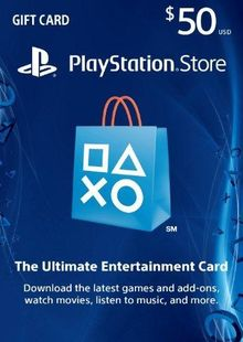 $50 PlayStation Store Gift Card - PS Vita/PS3/PS4 Code clave barata para descarga