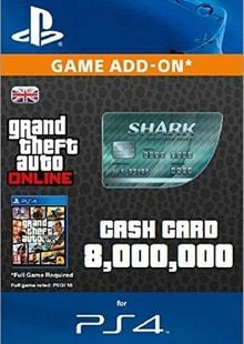 Grand Theft Auto Online (GTA V 5): Megalodon Shark Cash Card PS4 cheap key to download