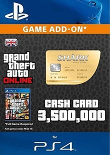 Grand Theft Auto Online (GTA V 5): Whale Shark Cash Card PS4 cheap key to download