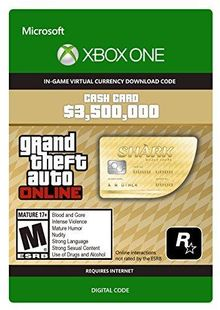 GTA V 5 Whale Shark Cash Card - Xbox One Digital Code cheap key to download