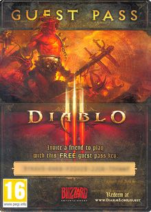 Diablo III 3 Guest Pass (PC) cheap key to download