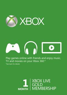 1 Month Xbox Live Gold Membership (Xbox One/360) cheap key to download