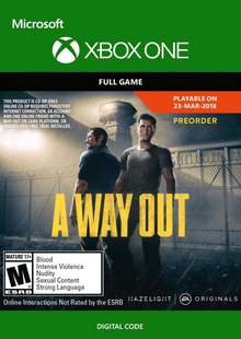 A Way Out Xbox One billig Schlüssel zum Download