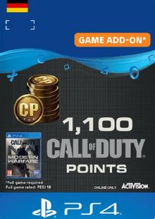 Call of Duty Modern Warfare - 1100 Points PS4 (Germany) cheap key to download