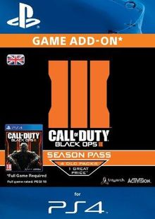 Call of Duty (COD): Black Ops III 3 Season Pass (PS4) cheap key to download