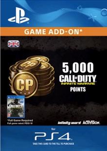 Call of Duty Infinite Warfare - 5000 Punkte PS4 billig Schlüssel zum Download
