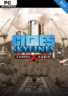 Cities Skylines PC - Campus Rock Radio DLC cheap key to download