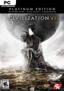 Sid Meier's Civilization VI 6: Platinum Edition PC (EU) billig Schlüssel zum Download