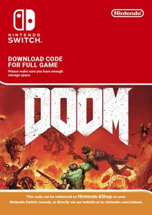 Doom Nintendo Switch (EU) clave barata para descarga