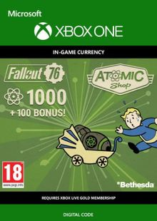 Fallout 76 - 1100 Atoms Xbox One cheap key to download