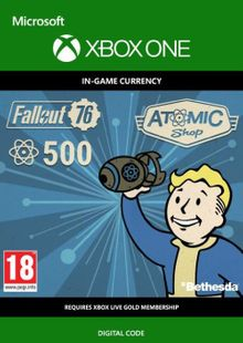 Fallout 76 - 500 Atoms Xbox One cheap key to download