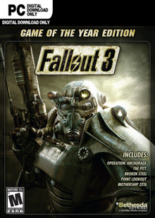 Fallout 3 Game of the Year Edition PC clé pas cher à télécharger