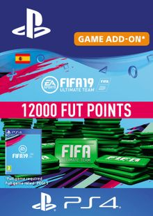 Fifa 19 - 12000 FUT Points PS4 (Spain) cheap key to download