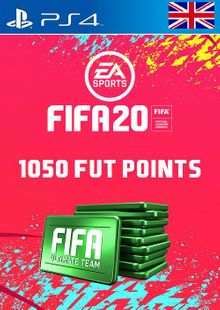 1050 FIFA 20 Ultimate Team Points PS4 PSN Code - UK account cheap key to download