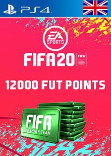 12000 FIFA 20 Ultimate Team Points PS4 PSN Code - UK account cheap key to download