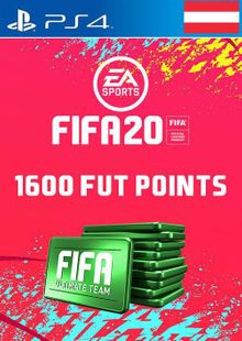 1600 FIFA 20 Ultimate Team Points PS4 (Austria) cheap key to download
