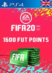 1600 FIFA 20 Ultimate Team Points PS4 PSN Code - UK account cheap key to download
