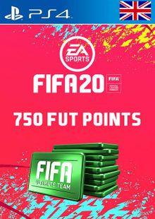 750 FIFA 20 Ultimate Team Points PS4 PSN Code - UK account clé pas cher à télécharger