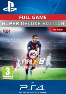 Fifa 16 Super Deluxe PS4 - Digital Code cheap key to download