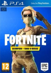 Fortnite Scorpion Skin + 1000 V-Bucks PS4 (EU) cheap key to download