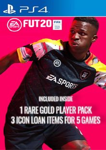 FIFA 20 - 1 Rare Players Pack + 3 Loan ICON Pack PS4 (EU) billig Schlüssel zum Download