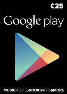 Google Play Gift Card £25 GBP cheap key to download