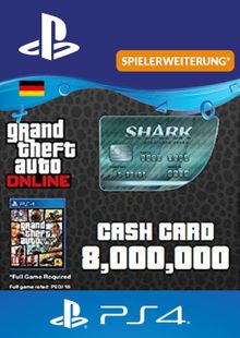 GTA Megalodon Shark Card PS4 (Germany) cheap key to download