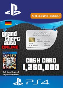 GTA Great White Shark Card PS4 (Germany) cheap key to download