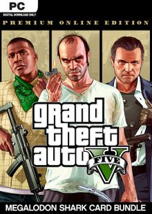 Grand Theft Auto V: Premium Online Edition & Megalodon Shark Card Bundle PC cheap key to download