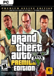 Grand Theft Auto V 5 (GTA 5): Premium Online Edition PC chiave a buon mercato per il download