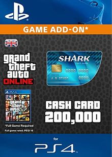 Grand Theft Auto Online (GTA V 5) Tiger Shark Cash Card PS4 cheap key to download