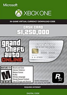 GTA V 5 Whale Shark Cash Card - Xbox One Digital Code clé pas cher à télécharger