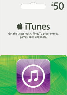 iTunes Gift Card - £50 cheap key to download