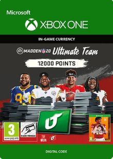 Madden NFL 20 12000 MUT Points Xbox One cheap key to download