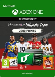 Madden NFL 20 2200 MUT Points Xbox One cheap key to download